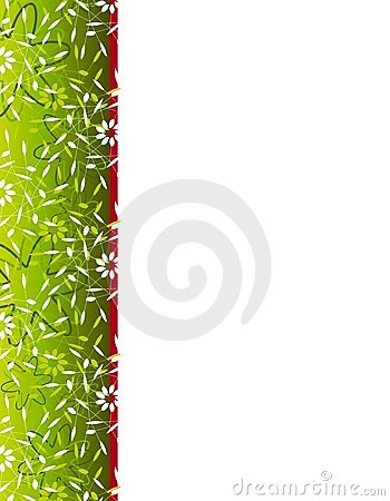 Free Christmas Floral Print Border Stock Images - 3550984