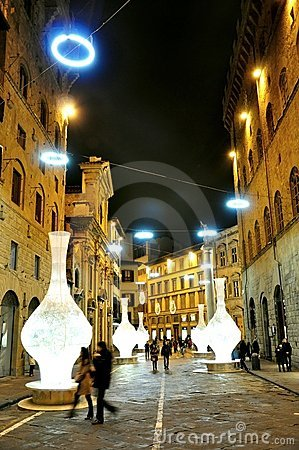 Christmas in Florence, Italy Editorial Photography