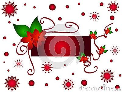 Christmas flower frame