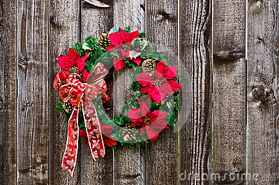 Christmas flower wreath