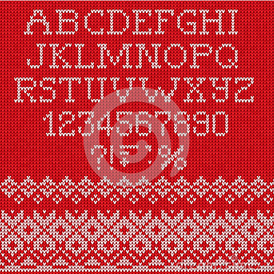 Free Christmas Font: Scandinavian Style Seamless Knitted Royalty Free Stock Photo - 35359325