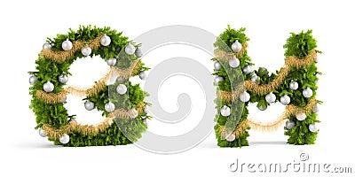 Christmas font set