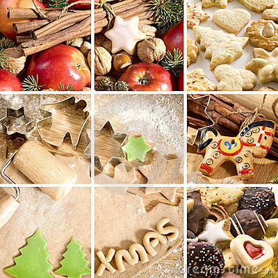 Christmas food collage