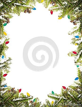 Free Christmas Frame Royalty Free Stock Photos - 16960138