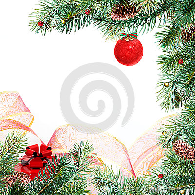 Free Christmas Frame Royalty Free Stock Photo - 27623895