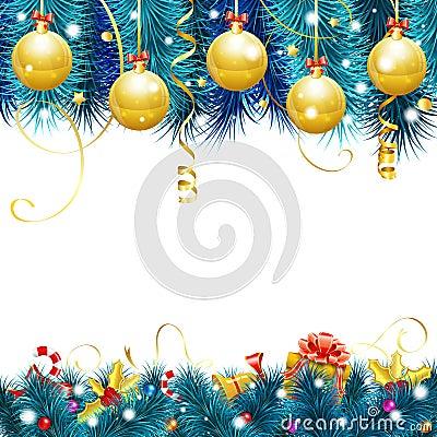 Free Christmas Frame Royalty Free Stock Photo - 45150635