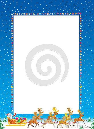 Free Christmas Frame Stock Image - 6893101