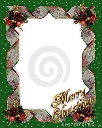 Christmas frame border ribbons