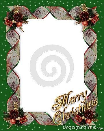 Christmas frame border ribbons