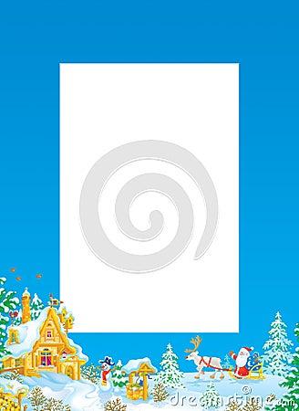 Christmas frame / border with Santa Claus
