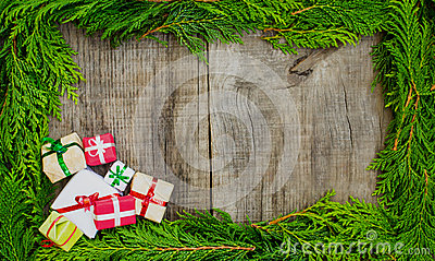 Christmas frame concept
