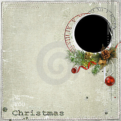 Christmas frame with decorations
