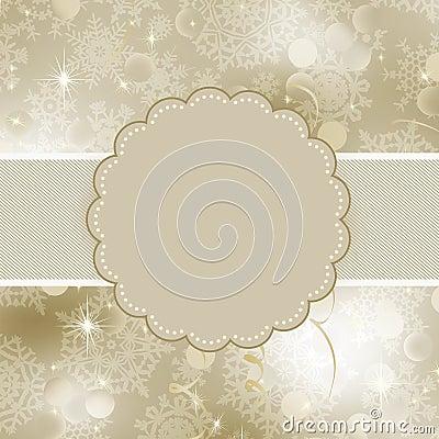 Christmas frame design for xmas card. EPS 8