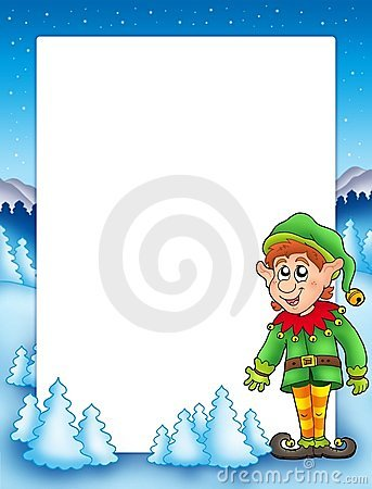 Christmas frame with elf