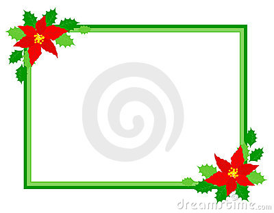 Christmas frame poinsettia