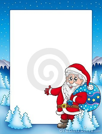 Christmas frame with Santa Claus 1