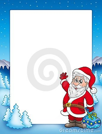 Christmas frame with Santa Claus 2