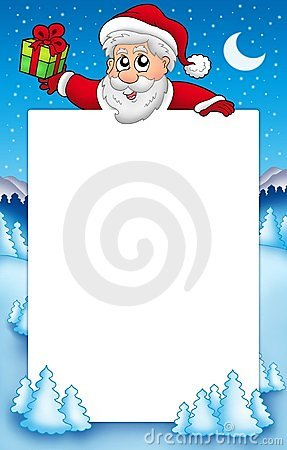 Christmas frame with Santa Claus 5