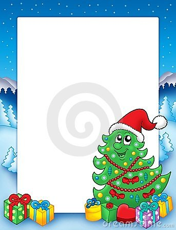 Free Christmas Frame With Tree 3 Stock Images - 11259204