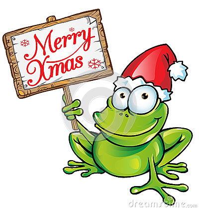 Free Christmas Frog Royalty Free Stock Photo - 33988325