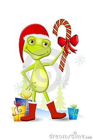 christmas frog cartoon stock photo image 6438800 candy cane clip art jesus candy cane clip art clipped