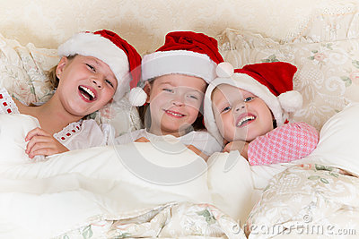 Christmas fun in bed