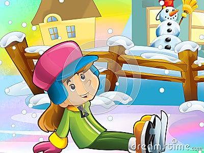 Christmas fun ice skates