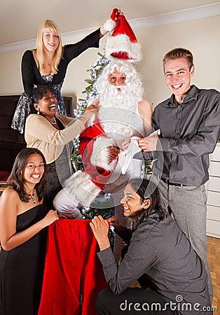 Christmas fun with santa