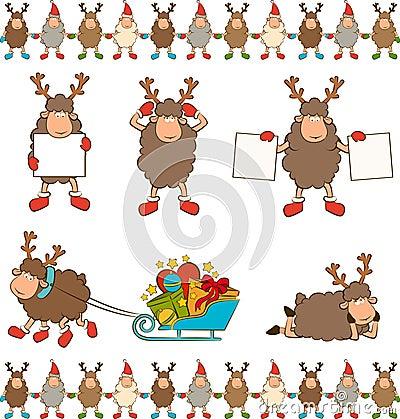 Christmas funny deer.