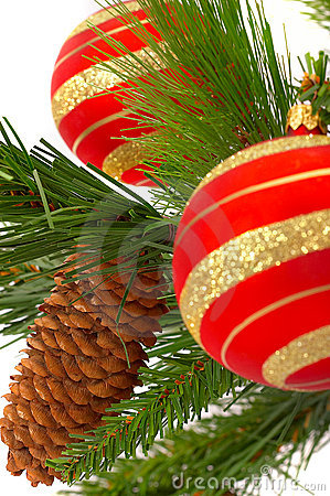 Christmas fir-tree with a ball