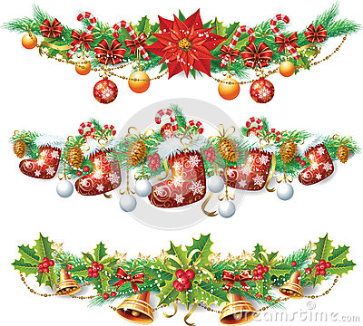 Free Christmas Garland Royalty Free Stock Photography - 27383087