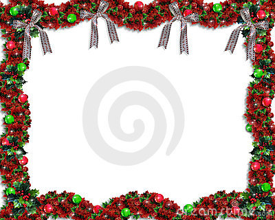 Christmas Garland background or border