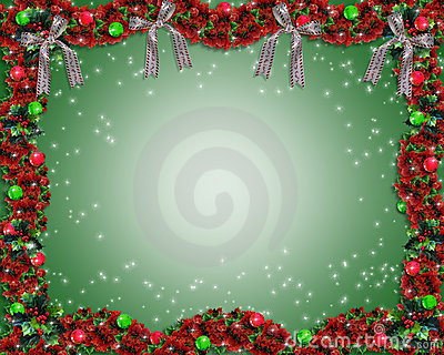 Christmas Garland background or border