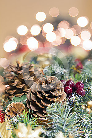 Christmas Garland Decoration with Lights