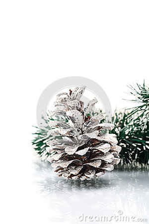 Christmas garland with pine cone