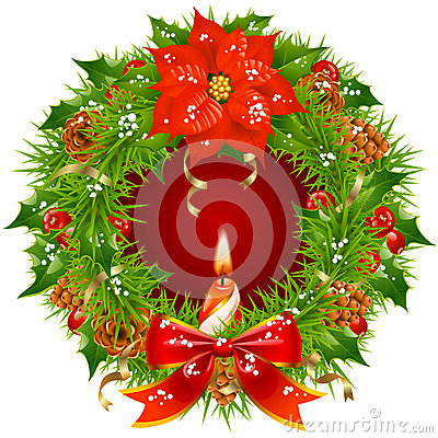 Christmas garland vector frame 3