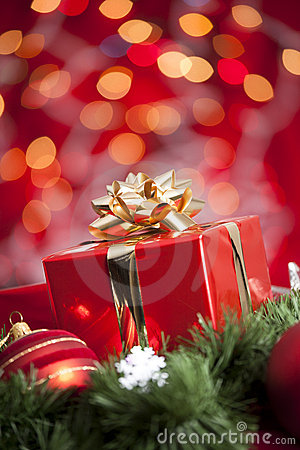 Free Christmas Gift Royalty Free Stock Photography - 22001567