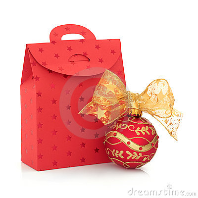 Christmas Gift Bag and Bauble