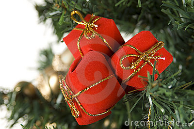 Christmas Gift Bags on Tree