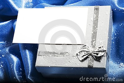 Christmas gift with blank card