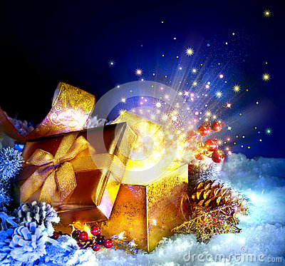 Free Christmas Gift Box Stock Photos - 35833963