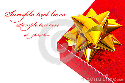 Christmas gift box with sample text