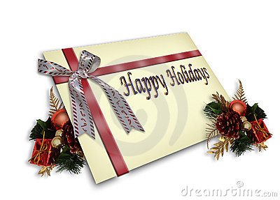 Christmas Gift Card illustration 3D