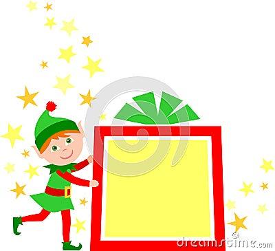 Christmas Gift Elf/eps