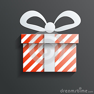 Christmas Gift icon vector with shadow