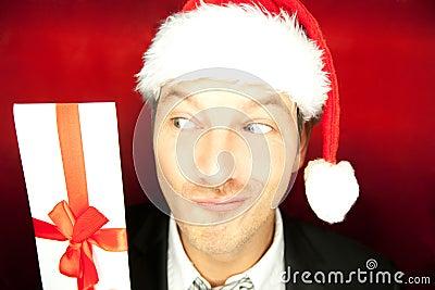 Christmas gift man