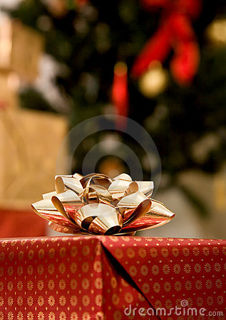 Christmas gift ribbon