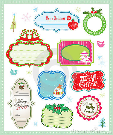 Free Christmas Gift Tag Collection Royalty Free Stock Photography - 11235197