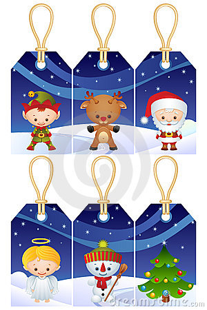 Free Christmas Gift Tags Royalty Free Stock Photography - 11322437