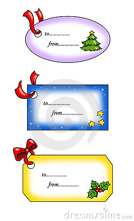 Christmas, gift tags